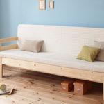 横幅伸縮の天然木すのこソファベッド【ecli】エクリ【マットレス付き】